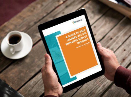A Guide to Help Leaders Act on Employee Survey Insights - Resource Page Cover