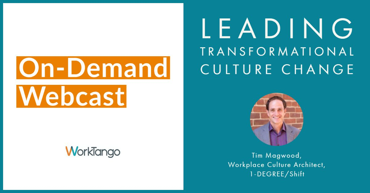 Leading Transformational Culture Change - On-Demand